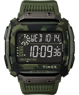 Command Shock 54mm Resin Strap Watch Green large