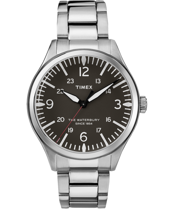 Waterbury Traditional 38mm Stainless Steel Watch Black/Stainless-Steel large