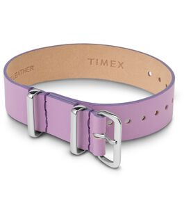 Variety 16mm Leather Slip Thru Single Layer Strap Purple large