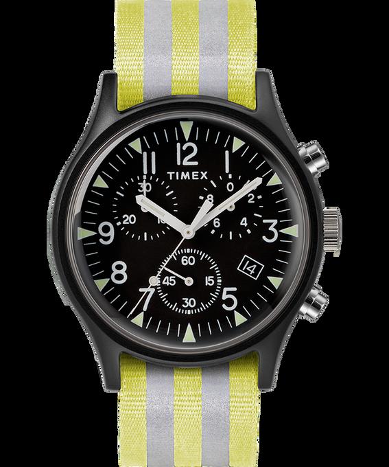 MK1 Aluminum Chrono 40mm Reflective Nylon Strap Watch Black large