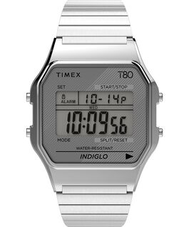 Timex T80 34mm Stainless Steel Expansion Band Watch Silver-Tone large