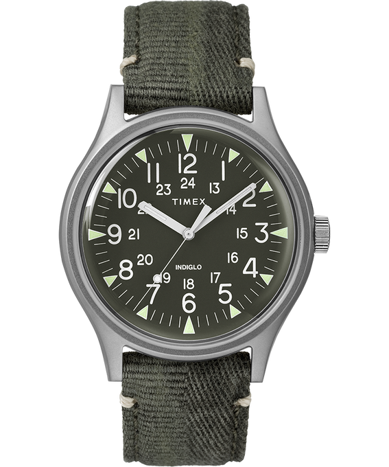 MK1 Steel 40mm Fabric Strap Watch Stainless-Steel/Green large
