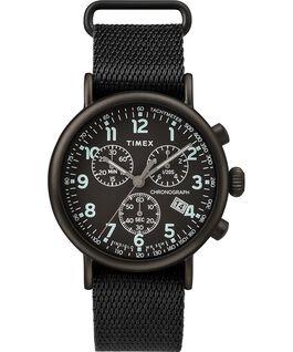 Reloj cronógrafo Standard de 40mm con correa de tela Negro large