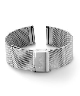 18mm Quick Release Mesh Band Silver-Tone large