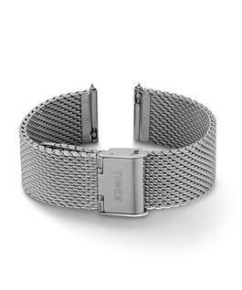 Bracelet à milanaise à dégagement rapide 20mm Argenté large