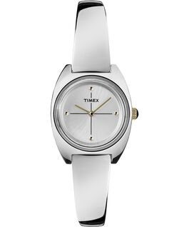 Milano 24mm Semi-Bangle Watch Silver-Tone/White large