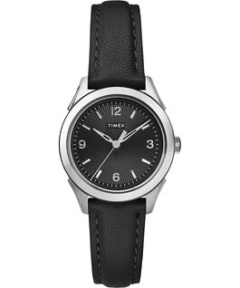 Torrington Womens 3-Hand 27mm Leather Strap Watch Stainless-Steel-Black large
