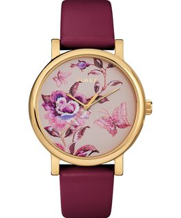 Full Bloom 38mm Leather Strap Watch Rose-Gold-Tone/Pink large