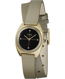 Milano 24mm Double-Wrap Leather Watch Gold-Tone/Black large