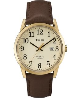 Original Easy Reader 38mm Leather Strap Watch Gold-Tone/Brown/Cream large