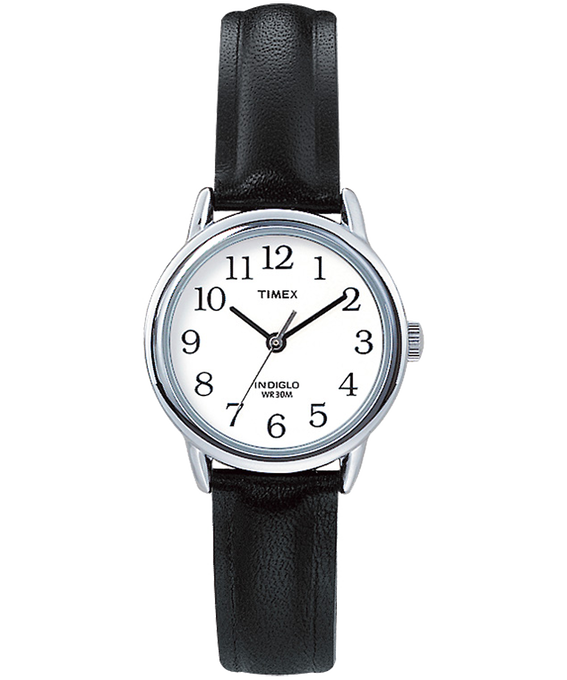 Easy Reader 25mm Leather Watch Silver-Tone/Black/White large