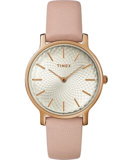 Metropolitan 34mm Leather Watch Rose-Gold-Tone/Pink large