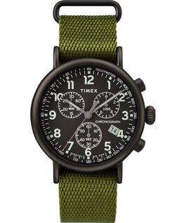 Standard Chronograph 40mm Fabric Strap Watch Black/Green large