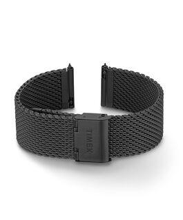 Bracelet à milanaise à dégagement rapide 20mm Noir large