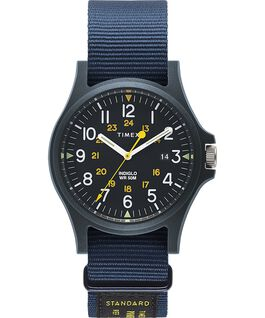 Acadia 40mm Military Grosgrain Strap Watch Blue large