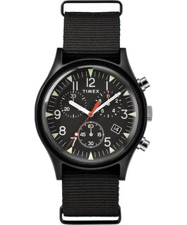 MK1 Aluminum Chronograph 40mm Nylon Strap Watch Black large
