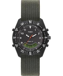 NSN-1K 39mm Elastic Strap Watch Black/Green large