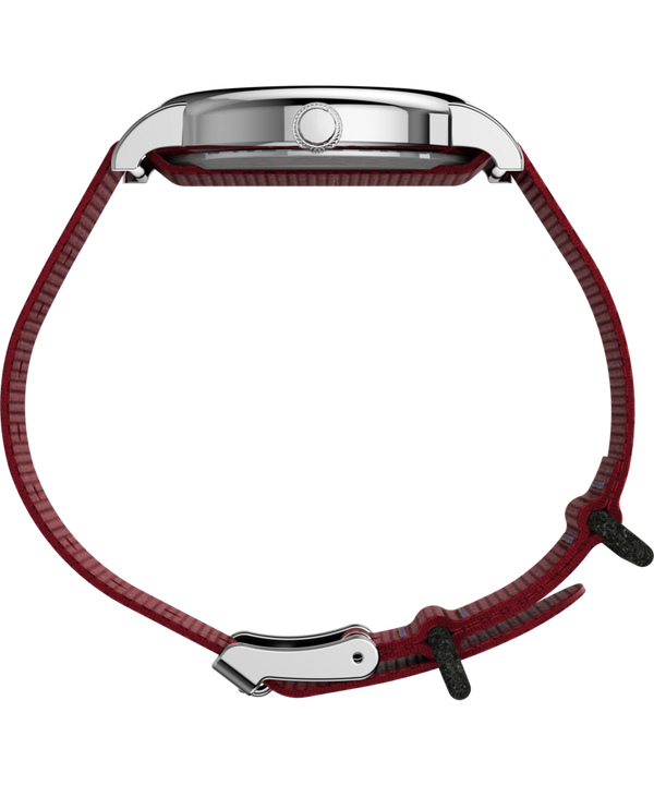 Timex x Peanuts - Montre Snoopy 38 mm Bracelet en nylon Silver-Tone/Red/White large