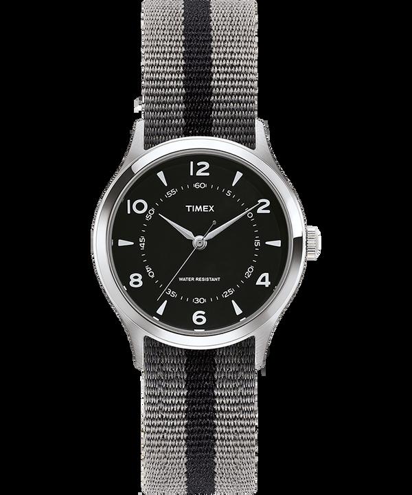 Montre Whitney Village 36mm Bracelet en gros-grain réversible Stainless-Steel/Black large
