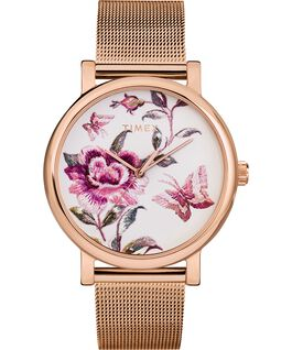 Full Bloom 38mm Mesh Bracelet Watch Rose-Gold-Tone/Pink large