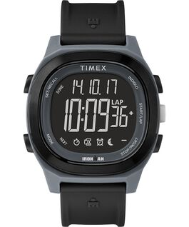 Ironman Transit 40mm Full Size Resin Strap Watch with Negative Display Black large