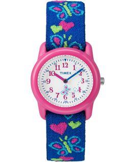 Montre Kids Analog 29mm Bracelet en tissu élastique Pink/Blue/White large