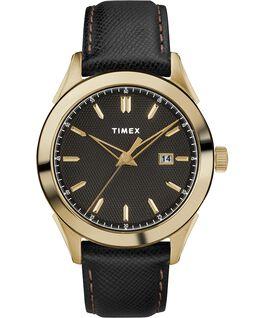 Torrington Mens 40mm Leather Strap Watch Gold-Tone/Black large