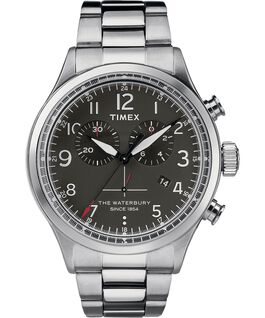 Waterbury Traditional Chronograph Black Dial 42mm Stainless Steel Watch Stainless-Steel/Black large