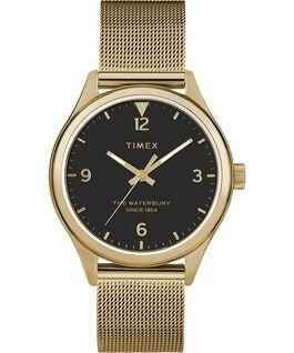 Montre femme Waterbury Traditional 34mm bracelet à milanaise Doré/Noir large