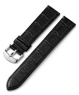 Correa de cuero con diseño de piel de cocodrilo de 20mm de cambio rápido Negro large