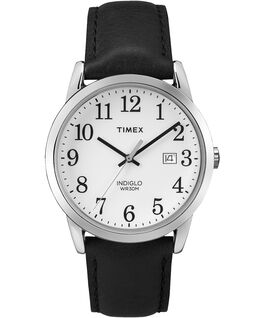 Original Easy Reader 38mm Leather Strap Watch Black/White large