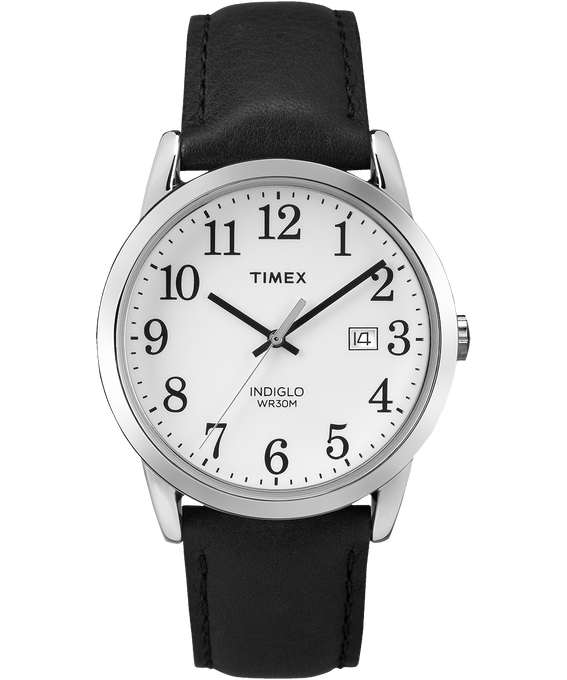 Reloj original Easy Reader de 38 mm con correa de cuero Negro/Blanco large