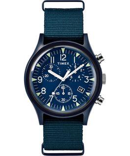 Zegarek MK1 z chronografem, kopertą aluminiową 40 mm i materiałowym paskiem Blue large
