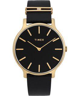 Zegarek Transcend z kopertą 38 mm i dodatkowym skórzanym paskiem Złoty/Czarny large