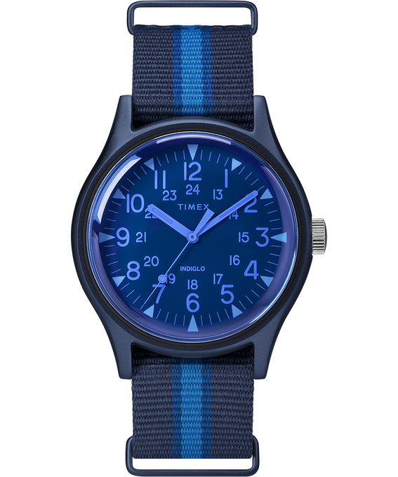 MK1 California 40mm Fabric Strap Watch Blue large