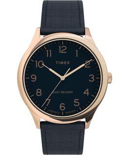 Reloj Easy Reader Gen1 de 40mm con correa de piel Tono oro rosa/Negro large