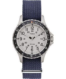 Navi Ocean 38mm Fabric Strap Watch Blue/White large