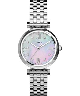 Parisienne 28mm Stainless Steel Bracelet Watch Silver-Tone/Mother-of-Pearl large