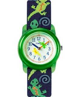 Montre Kids Analog 29 mm Bracelet en tissu élastique Green/Blue/White large