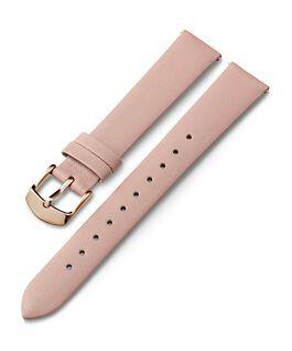 Skórzany pasek 16 mm ze sprzączką w kolorze różowego złota Różowy large
