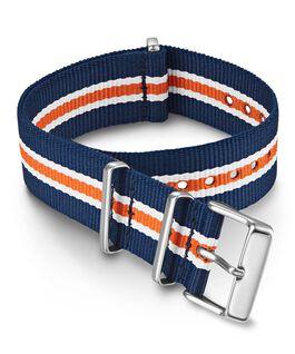 Bracelet une pièce à double couche en tissu 20mm Orange large