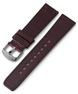 Bracelet en cuir à dégagement rapide 22mm 1 Marron large