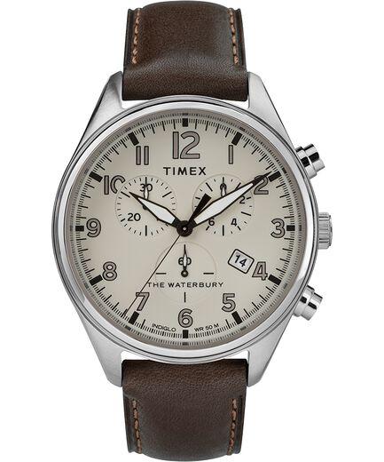 5415f896281e Reloj cron oacute grafo Waterbury Traditional de 42 nbsp mm con correa de  cuero Acero inoxidable
