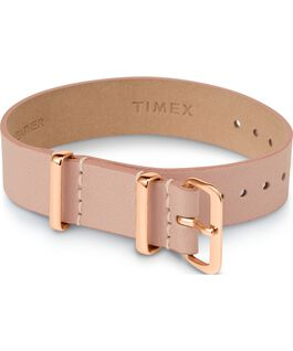 Variety 16mm Leather Slip Thru Single Layer Strap Tan large