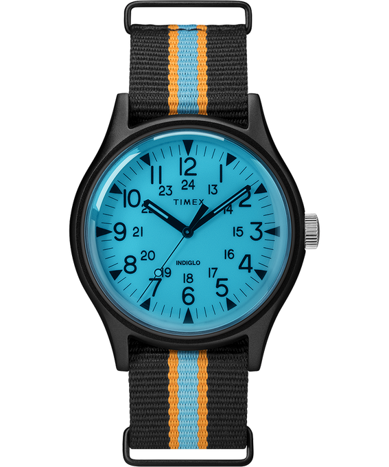 Reloj MK1 California de 40mm con correa de tela Negro/Azul large