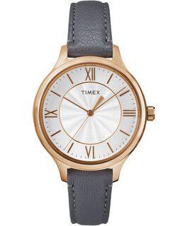 Peyton 36mm Leather Watch Rose-Gold-Tone/Gray/Silver-Tone large