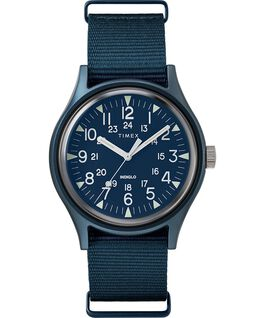 MK1 Aluminum 40mm Nylon Strap Watch Blue large