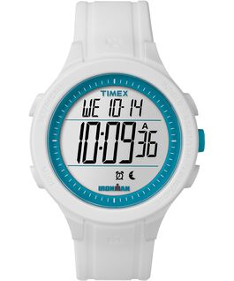 IRONMAN Essential 30 43mm Silicone Strap Watch White/Blue large