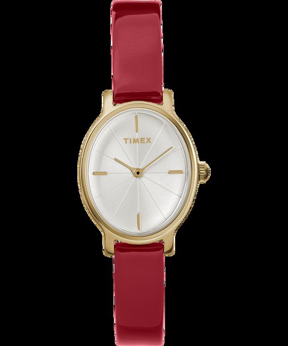 Reloj Milano Oval de 24mm con correa de charol Dorado/Rojo/Plateado large