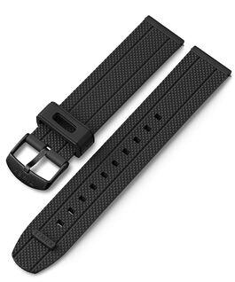 Bracelet en silicone à dégagement rapide 20mm Noir large